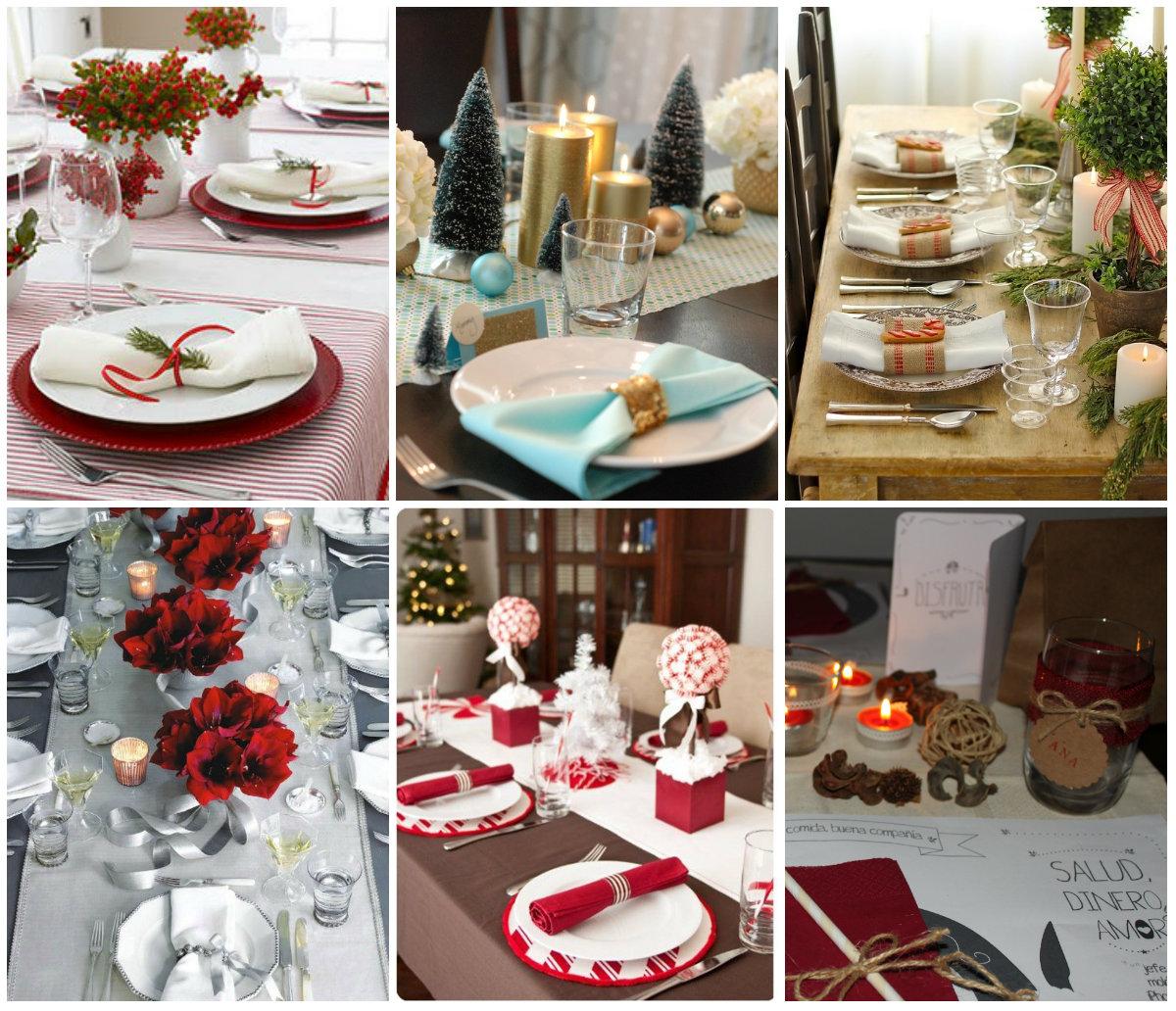 decoración mesa navidad