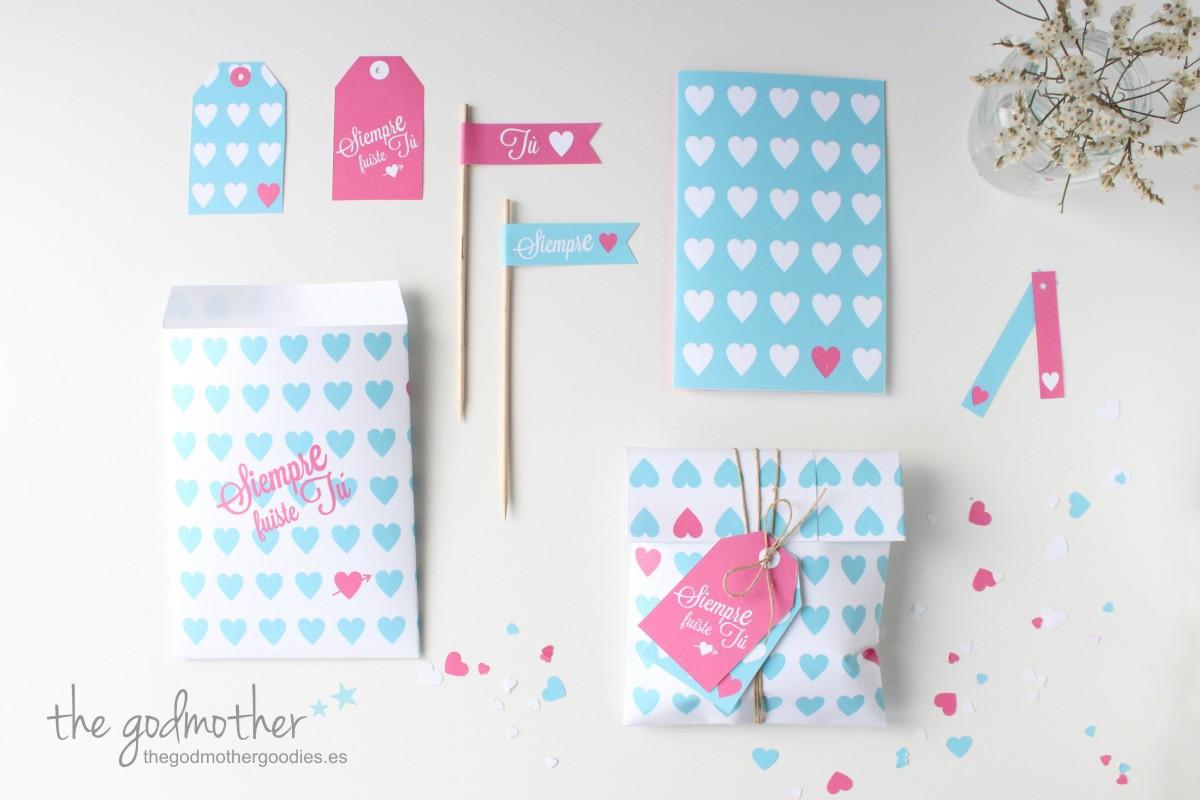 imprimible san valentín - kit san valentín